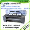 Impresora de la materia textil de las lanas con la máquina de la impresora de la materia textil de las lanas de la cabeza el 1.8m del fuego de la estrella