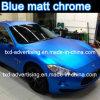 Nouveau film de vinyle de voiture de bleu glacier de chrome de Matt d'arrivée