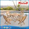Sillas de la teca de los muebles del jardín de madera sólida del 100% y tabla de cena plegables