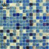 Color azul de mosaico del color de la mezcla del oro de cristal del azulejo (MC215)