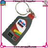 Keychain plástico para o presente de borracha de Keychain