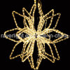 Rope Motif Twinke Star Christmas Tree Topper Light