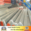 Pre-Galvanized Welded Round Tube/Pipes com Plain Extremidade
