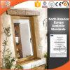 Finestra solida ricoprente di legno di quercia della lega di alluminio della polvere, finestra di alluminio personalizzata della stoffa per tendine di legno solido di Clading di formato