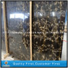 Natuurlijke Countertops van de Steen van China Portopo Zwarte en Gouden Marmeren Plakken