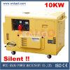 Tipo silencioso CE do gerador diesel do poder de 10kw aprovado