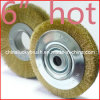Escova redonda amarela da roda do fio de aço de 6 polegadas (YY-240)