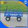 de blauwe Geschilderde Wagen van de Tuin van het Staal W001
