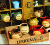 창조적인 디자인 유럽식 사기그릇 커피 잔