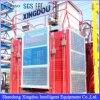 Elevatore del materiale da costruzione con la cremagliera ed il pignone guidati