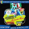 名誉または記念品のための高品質の金属メッキの金メダルか円形浮彫り