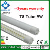 3years Warranty를 가진 T8 Tube LED Light 9W 0.6m