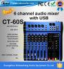 Professionele Audio cT-Jaren '60 6 de Mixer van de Muziek van DJ van Kanalen