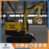 Zappatore di scavatura poco costoso della macchina 800kg dell'escavatore 0.8ton di prezzi della Cina mini con la gru a benna del libro macchina per il giardino