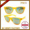 F7414 2015 Últimas Rana de alta calidad de la piel de neón color de moda las gafas de sol