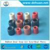 Arrêt de porte en caoutchouc de qualité de Dehuan pour le protecteur en bois de surface de porte en métal