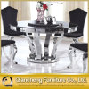 Pranzare la Tabella pranzante di marmo rotonda di base metallica della mobilia