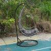 De poeder Met een laag bedekte Hangende Stoel van de Rotan van het Aluminium voor Tuin