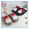 Las nuevas lanas del hogar de los deslizadores de Papá Noel del invierno de la Navidad calientan los deslizadores