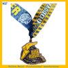 Brûler la médaille molle en caoutchouc de marathon de médaille de bande de sport d'émail