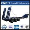 Cimc 3 차축은 50 톤 낮은 침대 트럭 트레일러 Lowbed를 파견한다