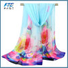 Unbegrenztheits-Sprung-Schal der Dame-Fashion Flower Printed Silk Chiffon-