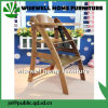 Cadeira de alimentação elevada de madeira do bebê