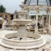 La fontaine en pierre beige de marbre de sculpture pour le jardin décorent (SY-F064)