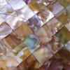 正方形パターンの虹色の淡水の貝のモザイク・タイル、継ぎ目が無いモザイク・タイル(BFW-IRL-SQ20)