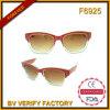Les nouveaux produits F6925 Shinny des lunettes de soleil de Transperent