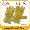 革靴の穀物の産業安全の修繕されたやし作業皮手袋(12002-1)