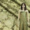tela cheia do bordado do engranzamento do vestido de noite do Sequin de 3mm