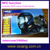 1000m Intercom Motorbike Motorcycle Helmet Headset con Nfc