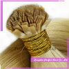 Capelli piani della cheratina di punta 100s Remy della cheratina dei capelli