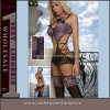 Leopard Print Sexy Teddy con G-String & Stocking (7119)