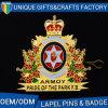 中国の工場OEMのロゴの印刷の速い出荷のアルミニウム金属の折りえりピン