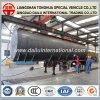De aangepaste Semi Aanhangwagen van de Tank van de Olie van het Roestvrij staal van het Vervoer van de Ruwe olie
