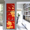 Wholesale China Classic Arts of Golden Fish Images Triptych Painting