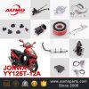 Rétroviseurs arrière en moto en argent pour Jonway Yy125t-12A Miroirs de moto