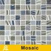 Geheel Goed Ontwerp 8mm van de Verkoop Mozaïek voor de Gestreepte Reeks van de Decoratie van de Muur (de Gestreepte Blauwe Groene/Koffie van de Vanille)