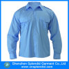 安い卸し売りポプリンの空のEpauletteの長い袖のワイシャツ