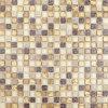 金のクリスタルグラスの組合せの大理石のモザイク・タイル