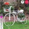 Soporte del plantador de la bicicleta del hierro usando para los muebles del jardín