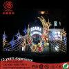 Lumière extérieure d'Eid de lune de DEL 3D de réverbère de motif décoratif de Ramadan