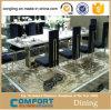 Redonda jantar do diodo emissor de luz do vidro elegante para o casamento luxuoso