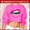 Camisetas rosadas por encargo de Hoodies Crewneck de la sublimación del color brillante (ELTCHI-19)