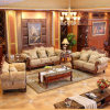 Sofà classico con il blocco per grafici di legno del sofà per mobilia domestica (929J)