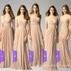 Оптовый розничный Bridesmaid одевает Stock длинние шифоновые платья вечера Lb17926