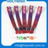 Wristbands del verde de la materia textil de la fiesta de Navidad de la tela para los acontecimientos