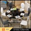 Tabela de jantar de vidro francesa da mesa redonda da mobília do estilo nos EUA